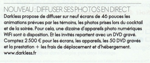 Article Darkless ELLE magazine